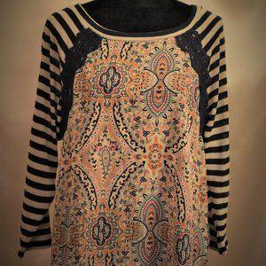 🌞NWT🌞 Windsor Long Sleeve Top w/ Bohemian Print